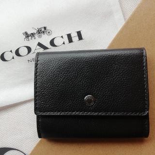 コーチ(COACH)の正規直営店購入 コーチ レザー コインケース 小銭入れ 新品、袋付き(コインケース/小銭入れ)