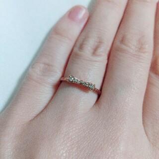 THE KISS - THE KISS 指輪 リング 5号 リボン ダイヤモンド