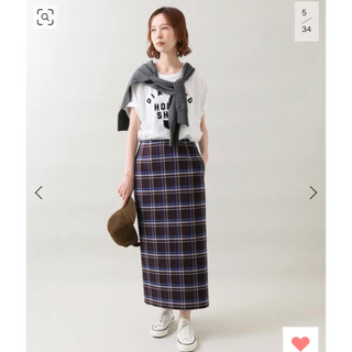 IENA - IENA チェックタイトスカート新品タグ付き