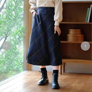 しまむら - しまむら miyoさん MITAチェックSK80 チェック柄スカート Mサイズ