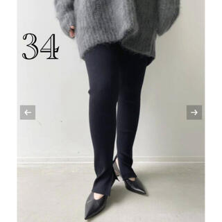 アパルトモンドゥーズィエムクラス(L'Appartement DEUXIEME CLASSE)のL'Appartement Rib Leggings ブラック34新品タグ付き(レギンス/スパッツ)