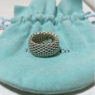 Tiffany & Co. - Tiffanyサマセットメッシュリングシルバー925
