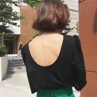 Ameri VINTAGE - ameri  vintage poofy shoulder topブラック