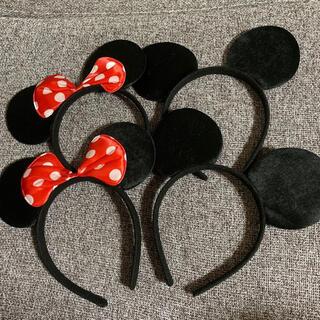 Disney - ミッキー ミニー カチューシャ コスプレ なりきり ディズニーランド