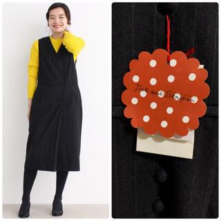 Dot&Stripes CHILDWOMAN - 新品タグ付き Dot&Stripes ウールサージ くるみ釦ジャンパースカート