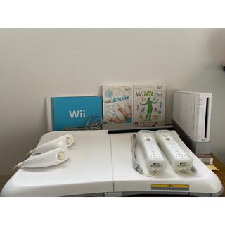 ウィー(Wii)のNintendo Wii 本体 Wii fit ウィー フィット バランスボード(家庭用ゲーム機本体)