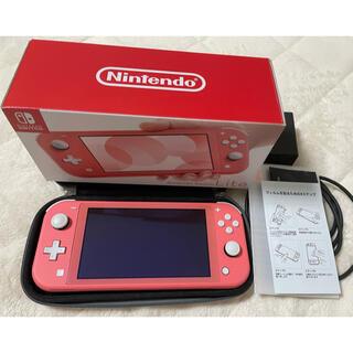 Nintendo Switch - 中古 SWITCH LITE コーラル 美品 一式セットとおまけ付き