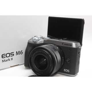 Canon - ❤️超高性能最新ミラーレス❤️Canon EOS M6 Mark II シルバー
