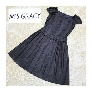 M'S GRACY - M'S GRACY*ステッチデニムワンピース*40(L)