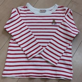 ミキハウス(mikihouse)のミキハウス 長袖ストライプ柄カットソー Tシャツ 100(Tシャツ/カットソー)