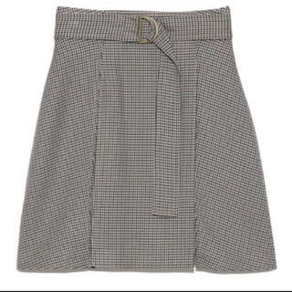 snidel - スナイデル snidelチェックミニベルティッドスカート オフホワイト 1サイズ
