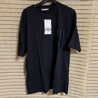 ZARA - 新品未使用 ZARA ザラ ポケット Tシャツ ブラック M