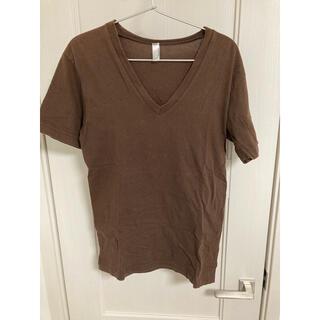 American Apparel - Vネック Tシャツ