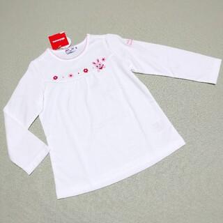 ミキハウス(mikihouse)の『未使用』ミキハウス うさこモチーフ付き ロンT 長袖Tシャツ 100㎝(Tシャツ/カットソー)