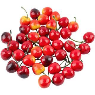 CHGCRAFT 3色120点 チェリー 食品サンプル 本物そっくり フルーツ (その他)
