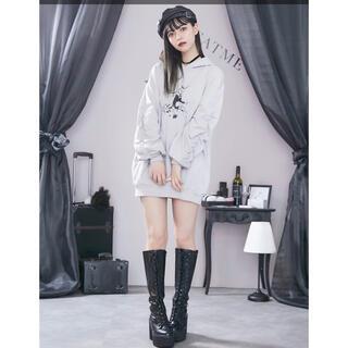 EATME - タイムセール0時まで☆EATME パッカリングスリーブスウェットワンピース