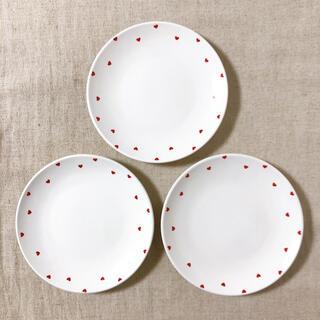 食器 ハート柄 お皿 3枚セット