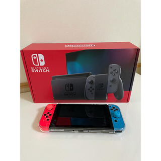 Nintendo Switch - 超美品 任天堂スイッチ本体 JOY-CONネオンレッド、ネオンブルー 新型