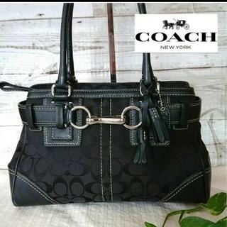 COACH - COACH シグネチャー トートバッグ 黒