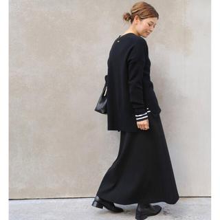 DEUXIEME CLASSE - Deuxieme Classe Jersey フレアスカート ブラック 新品