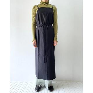 アダムエロぺ(Adam et Rope')のyumi apron dress / baserange(ひざ丈ワンピース)