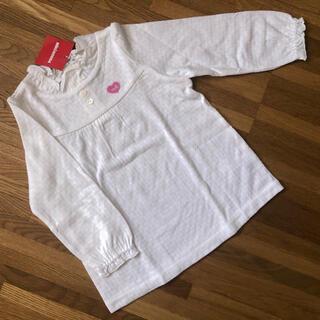 ミキハウス(mikihouse)のミキハウス 透かし編み長袖Tシャツ 90 新品 ロングTシャツ(その他)