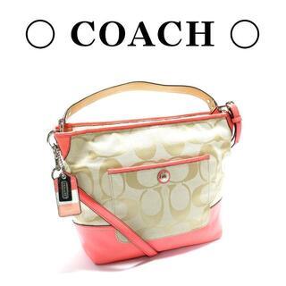 COACH - 【美品】COACH コーチ シグネチャー ショルダーバッグ 2way ピンク