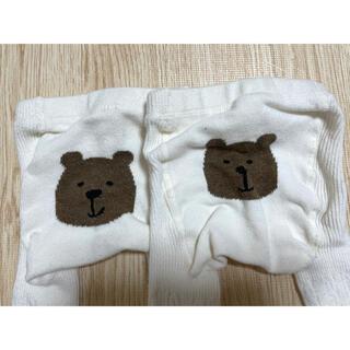 ベビーギャップ(babyGAP)のbabygap くまタイツ 2枚セット 双子 0-12m(靴下/タイツ)