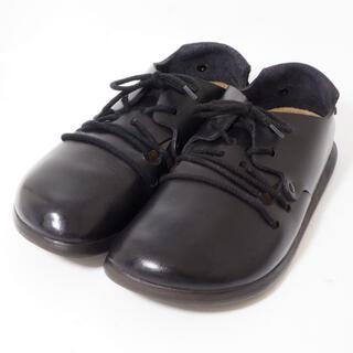 ビルケンシュトック(BIRKENSTOCK)のビルケンシュトック モンタナ 黒 サイズ37 24cm ナロー幅(ローファー/革靴)