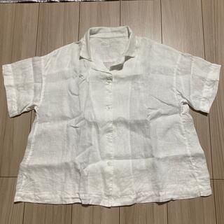 MUJI (無印良品) - 無印良品 オーガニックリネン 洗いざらし半袖開襟シャツ