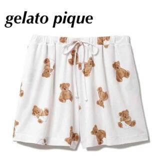 gelato pique - gelato pique ジェラートピケ ベアモチーフ 抗菌防臭 ショートパンツ