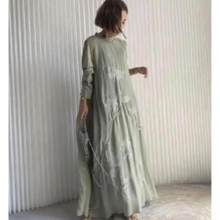 Ameri VINTAGE - 2way flower garden dress  セージ