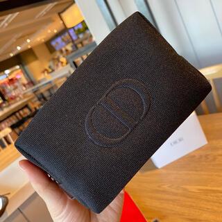 Christian Dior - 最新 ディオール   スクエア ポーチ ブラック 箱付き