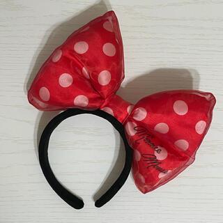 Disney - ディズニーミニーちゃんリボン オーガンジーカチューシャ