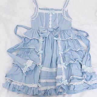 Angelic Pretty - 匿名配送 ♡ Angelic Pretty 無地 JSK ブルー 懐古ロリィタ
