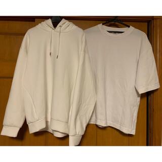 UNIQLO - UNIQLO   GU 半袖Tシャツ パーカートレーナー スニーカー 3点セット