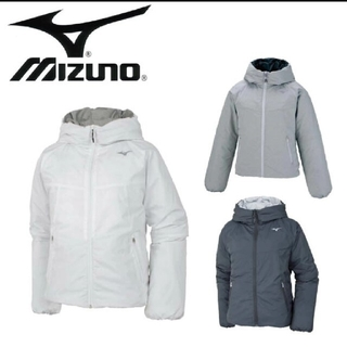 MIZUNO - 新品!ミズノ レディース ブレスサーモ ダウンジャケット グレー Lサイズ