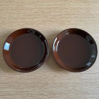 ARABIA - 【廃盤色・旧ロゴ】アラビア koko  プレート 10cm チョコレート2枚