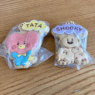 BANDAI - BT21クッキーチャーム TATA&SHOOKY