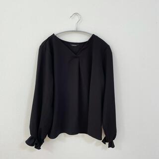 しまむら - 黒 Vネックブラウス トップス