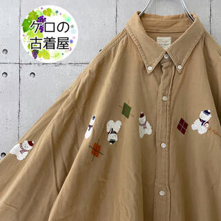 Karl Helmut - 【90s 希少】カールヘルム ピンクハウス 長袖シャツ クマ 刺繍