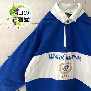 【90s オールド 】XL ラガーシャツ スウェット フロント刺繍