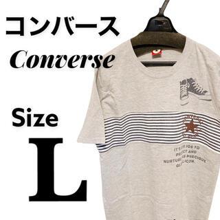 CONVERSE - converse ビッグシルエットTシャツ グレー