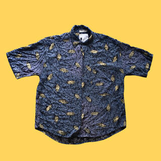 90s vintage shirt used rayon S S/S