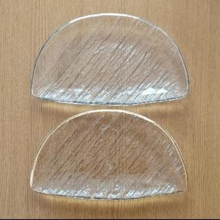 半月皿 ガラス 金彩 銀彩 2枚セット