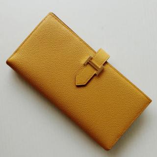 Hermes - ジョーヌアンブル ゴールド金具 ベアンスフレ エルメス財布