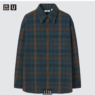 UNIQLO - ヘビーフランネル オーバーサイズシャツ ユニクロU XXL