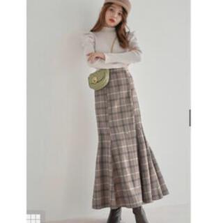 GRL - チェックマーメイドスカート GRL grl グレイル ブラウン