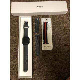 Apple Watch - アップルウォッチ3 APPLE WATCH3 42 ブラック