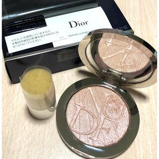 Dior - ディオール ディオールスキン ヌードエアーパウダーコンパクト ホロピンク  ラメ